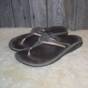 Chaco Sway Ecotread Multi Brown Leather Sandals